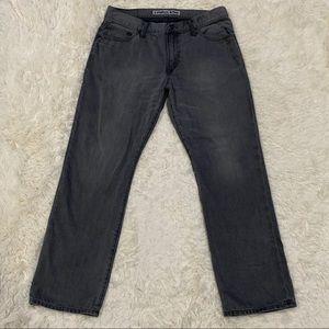 EXPRESS Men's Jeans Kingston 33x30 Straight Gray